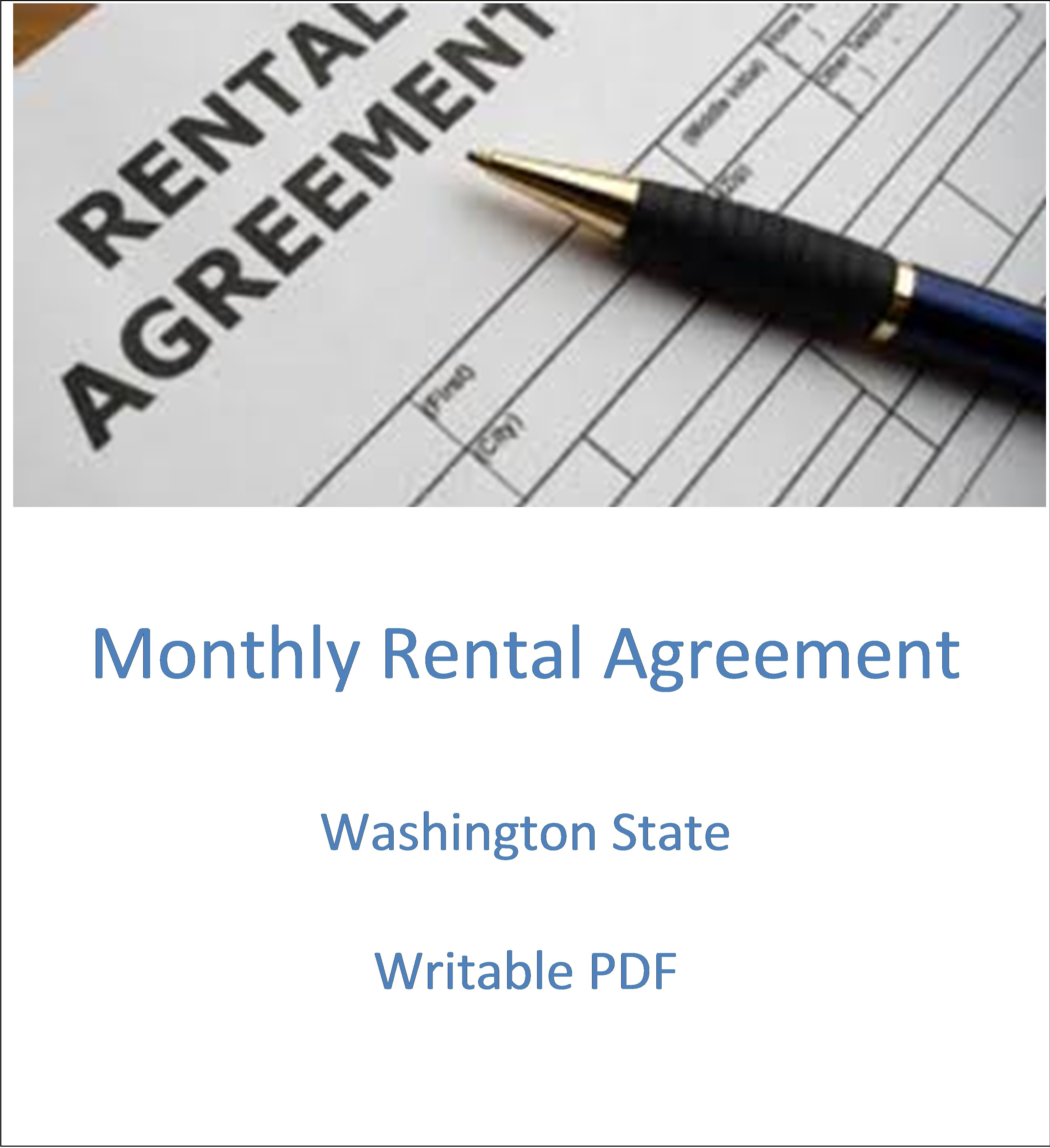 Monthly Rental Agreement Form Writable Pdf Renters Pass