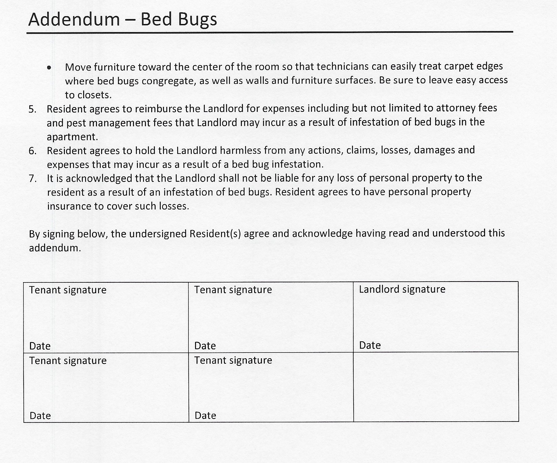 Addendum bed bugs example page 2